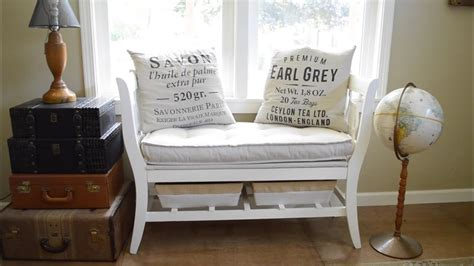 diy salvaged chair french bench
