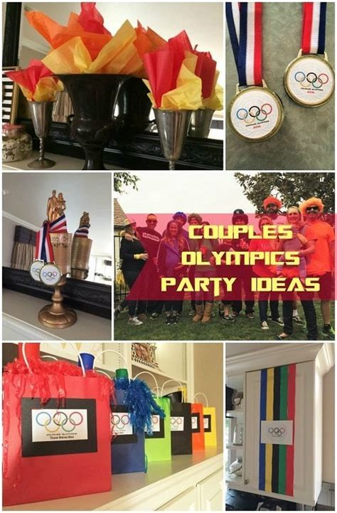 couples olympics theme party  adults diy inspired