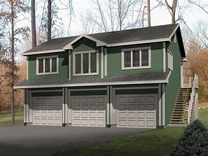 laycie 3 car garage apartment plan 059d 7504 house plans With apartment over garage kits