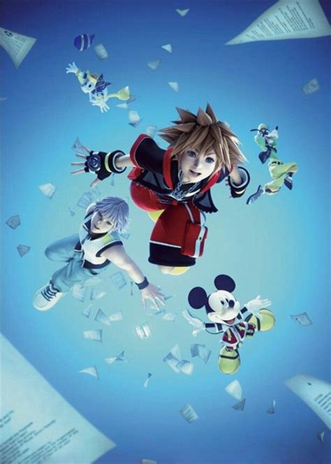 Sora Riku Donald Mickey And Goofy Kingdom Hearts