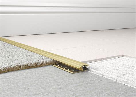 tile to carpet metal transition metal carpet to tile trim 2 tileasy