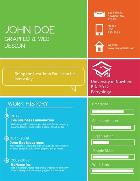 Resume Template Windows 8 by Pin By Style On Infographics Graphic Resume Cv