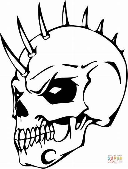 Coloring Skull Evil Pages Printable Drawing Cif