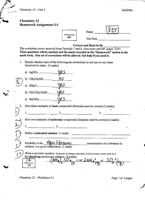 15 best images of chemistry unit 5 worksheet 1 chemistry