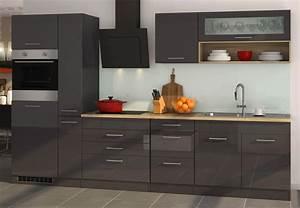 Günstige Küche Mit Geräten : k chenzeile m nchen vario 2 k che mit e ger ten breite 320 cm hochglanz grau graphit ~ Indierocktalk.com Haus und Dekorationen