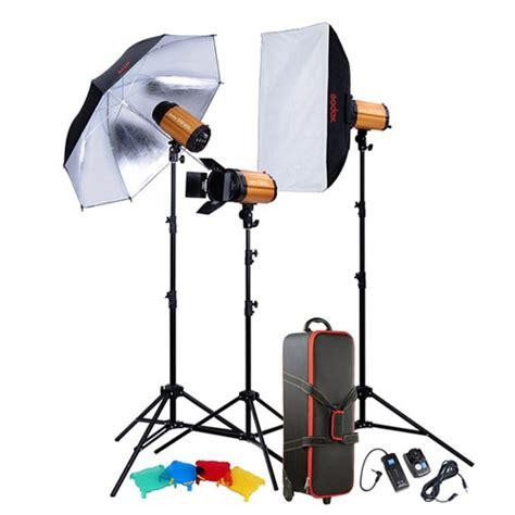 photo studio lighting kit godox smart studio 3 monolight flash strobe kit