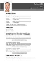 Les Exemples De Cv by Cv A Remplir Gratuit Pdf