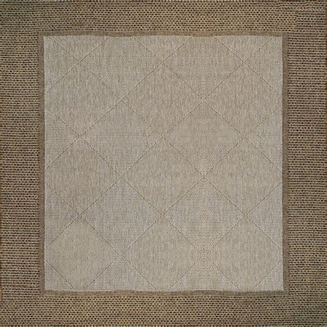 9 X 9 Outdoor Rug by 9x9 Area Rug In Sisal Style Brown Border Frame Chestnut