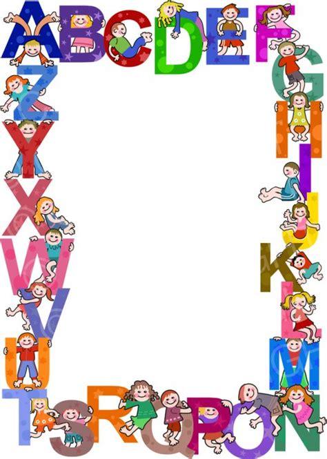 kids alphabet border clip art prawny clipart cartoons