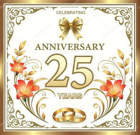 25th wedding anniversary Stock Vector © seriga #76530319