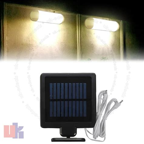 2x 10 led rechargeable solar powered light for shed indoor