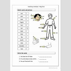 Vocabulary Matching Worksheet  Body Parts (1) Worksheet  Free Esl Printable Worksheets Made By