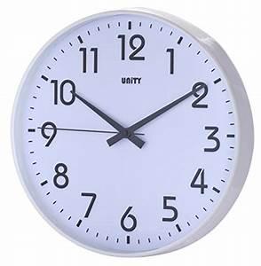 Horloge Murale Blanche : unnited 30cm 12 horloge murale silencieuse fradley ~ Teatrodelosmanantiales.com Idées de Décoration