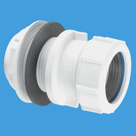 mcalpine   compression waste pipe tank connector tm