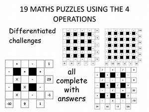 Maths Puzzles - Tricky  Ks2 By Erylands