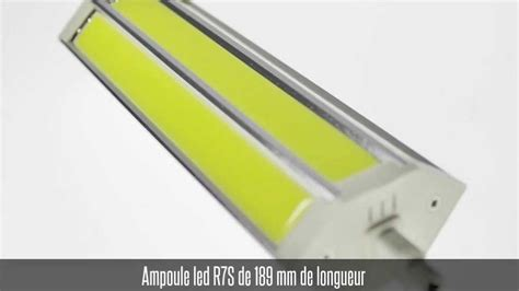 Ampoule Led R7s, 189mm, 15w, Blanc Chaud / Blanc Froid