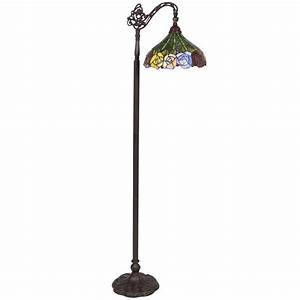 bcp tiffany style rose reading floor lamp mission design With mission style floor reading lamp