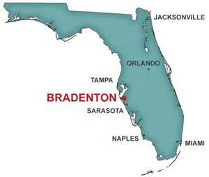 Florida Map Bradenton FL
