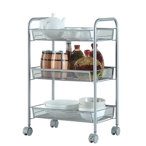 3 4 5 tier rack shelf shelving w rolling kitchen pantry