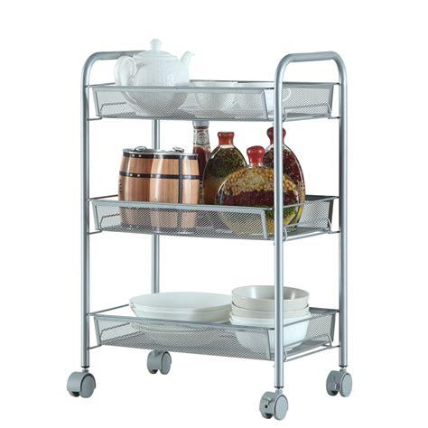 345 Tier Rack Shelf Shelving Wrolling Kitchen Pantry