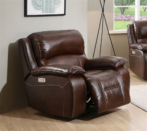 Real Leather Recliner Chairs by Westminster Genuine Leather Power Recliner With Power