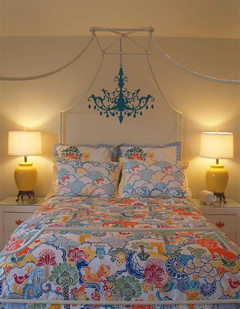 chandelier wall sticker transitional bedroom