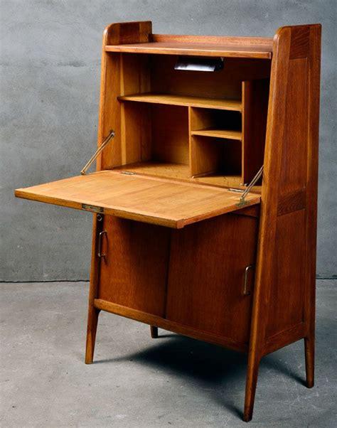 Secretaire-meuble-vintage-bois-chene