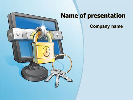 Computer Security Plan Template by Computer Security Software Powerpoint Template