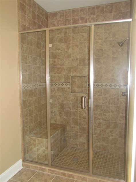 nice pictures  bathroom glass tile accent ideas