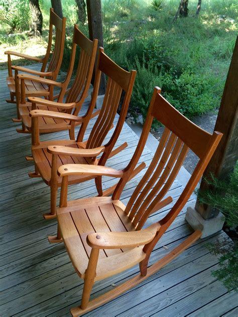 mahogany porch rockers  gary weeks company www