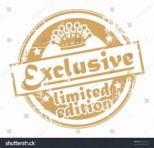 Grunge Stamp Words Exclusive Limited Edition Stock Vector ...
