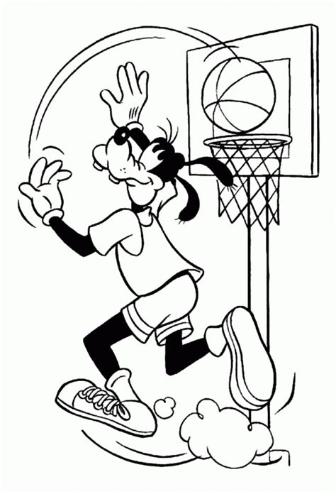 goofy coloring pages coloringpages