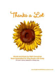 thanks a lot by raffi a singable picture book by eleg for sbwe sing books with emily the