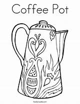 Coloring Coffee Pot Pages Tea Maker Daddy Twisty Noodles Loves Pots Espresso Colouring Drawings Web Noodle Patterns Built California Usa sketch template