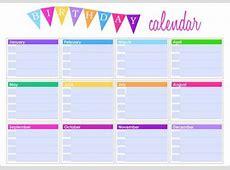 Birthday Calendar 43+ Calendar Template Free & Premium