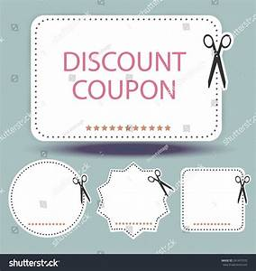 Blank Discount Coupon Stock Vector Illustration 241437070 ...