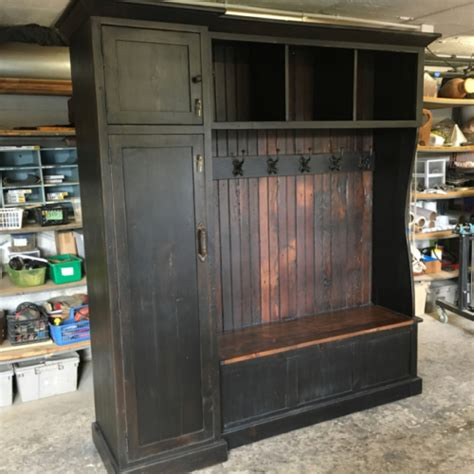 hall tree  side gun cabinet furniture   barn