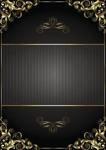 black background  gold frame stock illustration