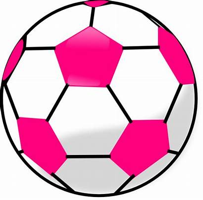 Soccer Ball Pink Clip Hexagons Clipart Vector