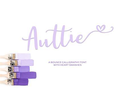 auttie script font  heart swashes sofontsy