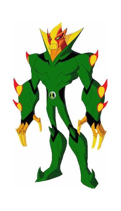 Swampfire Aliens Ben Omniverse Fuego Ben10 Pantanoso