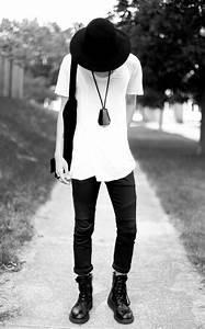 white t shirt black jeans shoes fashion men tumblr ...