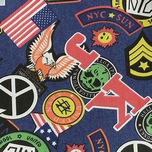 Tissu New York : tissu jeans new york dark x 61cm ma petite mercerie ~ Dode.kayakingforconservation.com Idées de Décoration