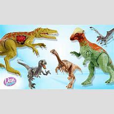 New Dinosaur Toys! Learn Fun Dinosaur Names With Jurassic World Dinosaurs For Kids Youtube