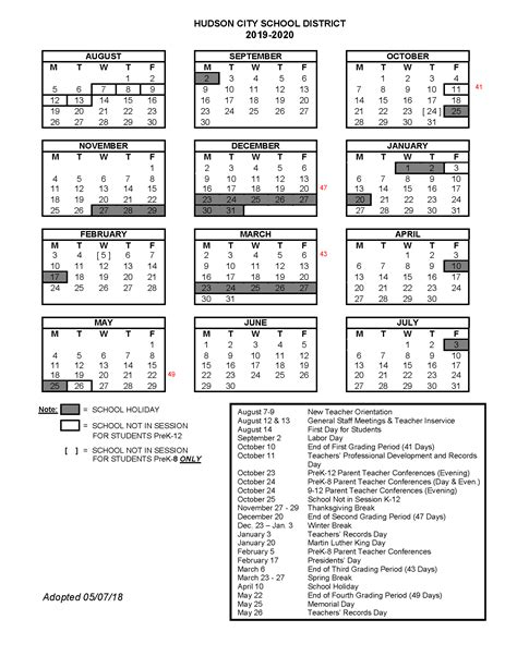 school year calendars school calendars