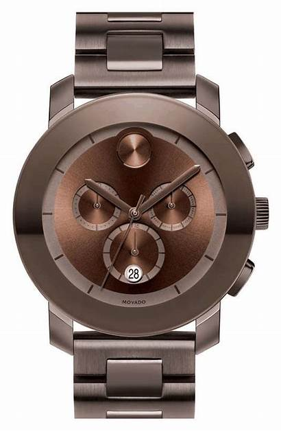 Movado Bold Bracelet Chronograph Brown Watches Silver