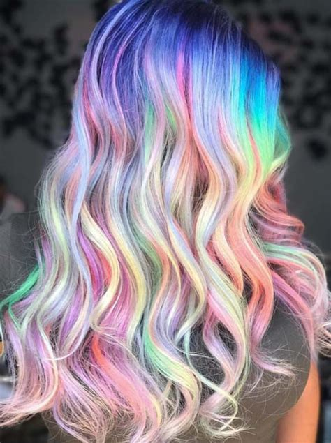 45 Best Pastel Holographic Rainbow Hair Color Ideas 2018