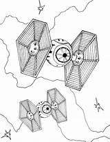 Fighter Tie Coloring Wars Printable sketch template