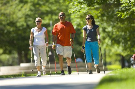 Nordic Walking With Fitness Walking Poles