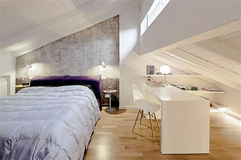 chambre sous pente de toit aménagement des combles pour une chambre sous toit